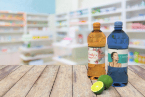 Water bottle with customized bottle label